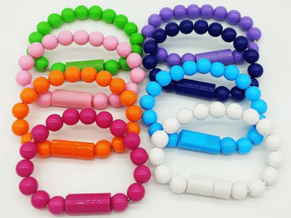 کابل دستبندی مهره ای MicroUSB رنگی