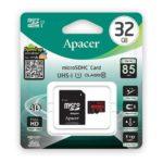 کارت حافظه microSDHC اپیسر کلاس ۱۰ استاندارد UHS-I U1 سرعت ۸۵MB همراه با آداپتور SD ظرفیت ۳۲ گیگابایت