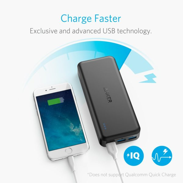 شارژر همراه انکر مدل A1273 PowerCore Elite با ظرفیت 20000 میلی آمپر ساعت Anker A1273 PowerCore Elite 20000mAh Portable Charger Power Bank