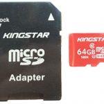 کارت حافظه microSDHC کینگ استار کلاس ۱۰ استاندارد UHS-I U1 سرعت ۸۵MB همراه با آداپتور ظرفیت ۶۴ گیگابایت