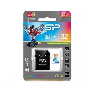 کارت حافظه microSDHC سلیکون پاور مدل Color EIite کلاس ۱۰ استاندارد UHS-I U1 سرعت ۸۵MB همراه با آداپتور SD ظرفیت ۳۲ گیگابایت