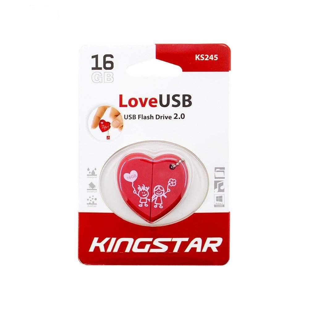 فلش مموری کینگ استار مدل Love USB KS245 ظرفیت ۱۶ گیگابایت