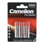باتری نیم قلمی کملیون مدل Plus Alkaline بسته ۴ عددی