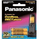 باتری نیم قلمی قابل شارژ ۶۵۰mAh دو تایی Panasonic