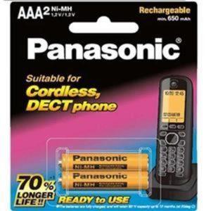 باتری نیم قلمی قابل شارژ 650mAh دو تایی Panasonic