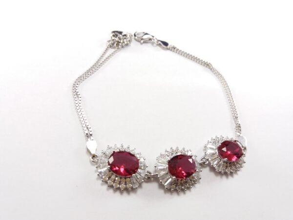 دستبند نقره زنانه مدل گل