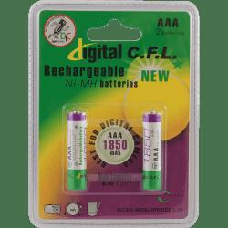 باتری نيم قلمی قابل شارژ DIGITAL C.F.L ظرفیت 1850 ميلی آمپر ساعت