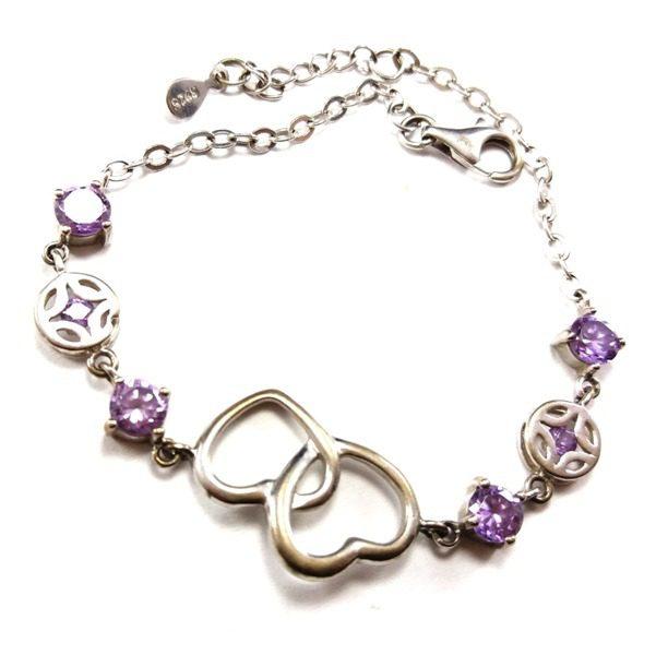 دستبند نقره زنانه مدل عشق