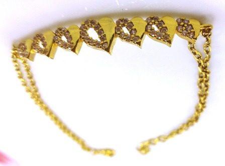 دستبند نقره طرح قلب