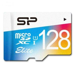 کارت حافظه microSDXC سیلیکون پاور مدل Color Elite کلاس 10 استاندارد UHS-I U1 سرعت 75MBps همراه با آداپتور SD ظرفیت 128 گیگابایت